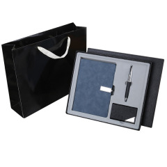 商务三件套 A5笔记本+笔+名片夹礼盒套装 送商务男士什么礼物好