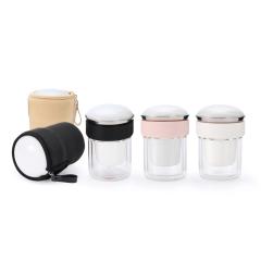 【易杯】创意旅行茶具 一壶二杯精致茶具套装 单位发纪念品发什么好
