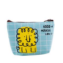 【狮子】可爱零钱包 时尚图案 牛津布耐磨耐用 活动的小奖品 美容行业展会促销送什么礼品