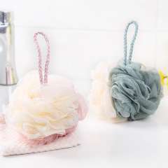 2个装撞色沐浴球 优质尼龙搓澡球 商务礼物