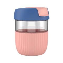彩虹随手杯 时尚潮流咖啡运动玻璃水杯 个性创意礼品 定制礼品