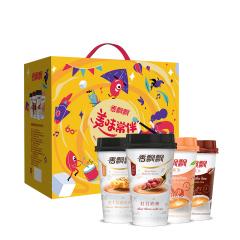 【京东伙伴计划—仅限积分兑换】香飘飘奶茶 美味常伴16杯礼盒装 咖啡红豆原味芝士4种口味混合装 1.176kg整箱