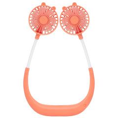 创意简约便携懒人小风扇 迷你挂脖伸缩折叠随身夏季小风扇 可定制LOGO礼品