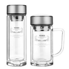 菲馳(VENES)博銳玻璃杯套裝300ML直杯+350ML辦公杯商務水杯套裝  十周年紀念禮品