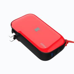 IDMIX(大麦)  多功能旅行充10000毫安移动电源 自带插头充电宝充电器三合一合 创意礼品定制 高档礼品赠送