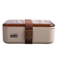 科羅恩 分格單層麥谷殼飯盒學生餐盒飯盒 小禮品什么劃算