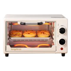 龙的(longde)家用多功能迷你烤箱小型家庭烘焙烘箱 电器礼品