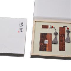 【?!縿撘庵袊诺涓W旨t木套裝 名片盒+書簽+U盤三件套禮盒 送客戶什么禮品實用