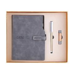 【礼盒装】U型磁扣插袋笔记本 A5变色PU笔记本签字笔三件套 商务礼品定制