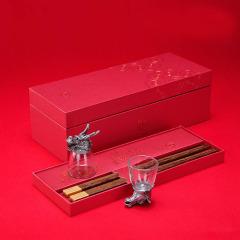 【如意】創意生肖酒杯筷子套裝 酒杯筷子禮盒 銀行客戶禮品贈送方案
