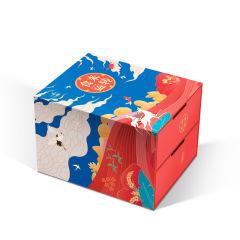 食来运转•万粽一心 双层抽屉礼盒 端午精装礼盒