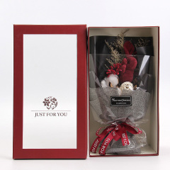 许愿兔干花花束礼盒 创意闪灯礼盒 三八节礼品 七夕节礼物
