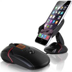 创意鼠标车载手机支架 汽车导航吸盘支架 创意汽车礼品