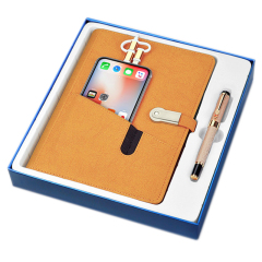带收纳充电宝笔记本礼盒 多功能记事本 8000mAh移动电源可定制log