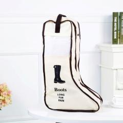 韩版可视靴子收纳袋 防尘袋--米色(长款)