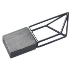 几何元素 后工业风创意金属结构U盘 促销会议礼品