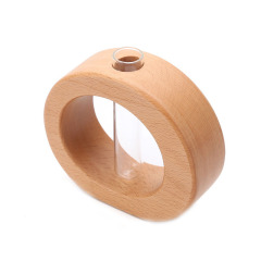 创意木质树洞花插 简约实用 桌面摆件