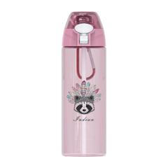 户外运动水杯 带吸管塑料学生水杯500ml 公司奖励小礼品