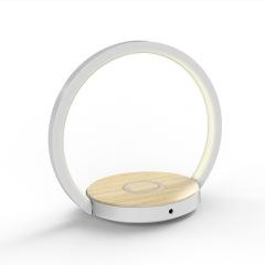 創意LED折疊床頭燈10W手機無線充電LED臺燈   家居特色禮品送什么