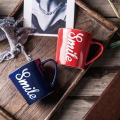 PHMI 布澜卡情侣对杯陶瓷杯马克杯两件套 定制杯子礼品