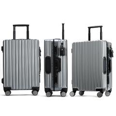 智能指紋解鎖時尚領先 太陽能手機充電全自動 超強抗壓開啟黑科技旅行登機行李箱 商務定制禮品