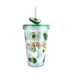 夏日水果杯 旋转吸管杯 创意随手杯480ML 员工礼品买什么