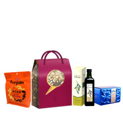 【闲兔礼盒A】春节礼盒套装 橄榄油+锡兰红茶+坚果 春节给员工送什么