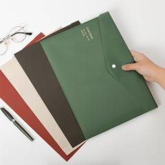 创意复古色防水烫金A4文件夹收纳袋档案袋     创意礼品推荐
