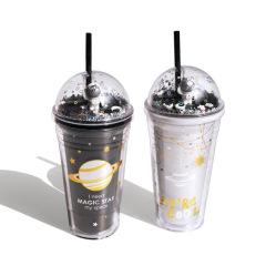 【来图定制】夏季网红吸管杯 创意礼品定制塑料杯子 吸管杯定制