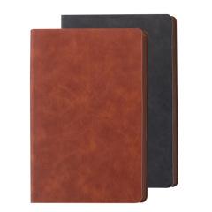 A5软皮面笔记本 简约大气滚色边设计记事本 可定制公司logo