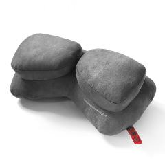 【纯色】双子枕 车用运动护颈枕(单个) 人体工程学原理护颈椎汽车头枕 汽车实用礼品