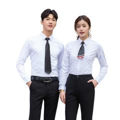 2020年新款春秋季男女同款长袖衬衫 竹纤维免烫抗皱正装 公司定制工作服