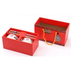 福禄寿喜 脸谱餐具礼盒套装 四件组 实用不贵的礼品