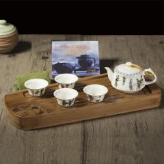 【古韵琴声】定窑白瓷功夫茶具套装 送商务客户的礼物
