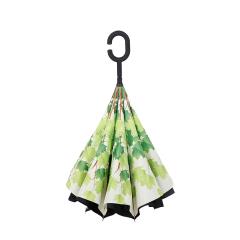 綠蔭反向傘 創意第三代c型手柄雙層免持式反向傘 長柄傘 藝術禮品定制