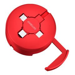 Oatsbasf 高顏值便攜隨身三合一PD數據線 一拖三手機支架數據線  酒店贈送小禮品 餐廳小禮品