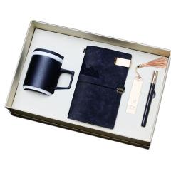 【造物】粗陶杯+筆記本+紅木筆+書簽 匠心商務禮盒四件套 杭州商務禮品