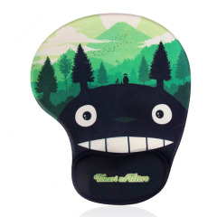 【龙猫】卡通动物护腕鼠标垫 柔软硅胶手托 防滑底面 活动礼品送什么好