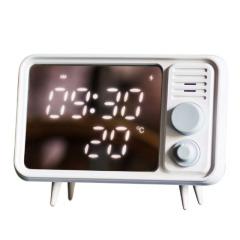 【HELLO】复古电视机多功能桌面镜面智能留言机  小夜灯 闹钟 温度计 公司周年庆礼物