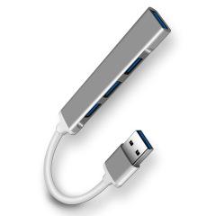 合金高速传输USB迷你集线器3.0  创意一拖四usb扩展坞分线器 实用的创意礼品 礼品推荐