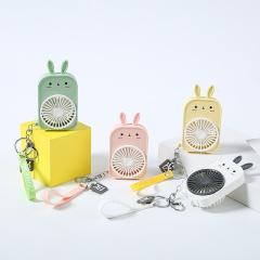 迷你兔子钥匙扣风扇 usb充电口袋风扇 便携迷你小风扇 创意小礼品