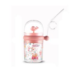 鲸鱼儿童水杯 卡通塑料吸管杯 男女宝宝水杯