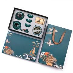 国潮复古 文创陶瓷茶具礼盒套装 文创定制 房地产促销礼品