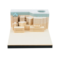 城市之夜便签纸3d立体纸雕 时尚实用 会议活动奖品