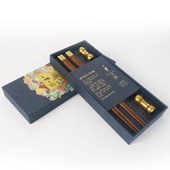 【一带一路】中华筷×2 +铝镁合金筷架×2套装 适合宣讲会送的伴手礼