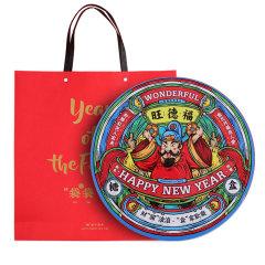 【财源滚滚】阖家欢乐大礼盒 妙手生花月历+五子棋+窗花对联红包组合套装 创意铁盒礼盒 新年礼品