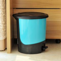 下架 5.5L脚踏式环保垃圾桶/卫生桶--蓝色(921)