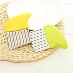 不銹鋼波浪狼牙切刀 土豆切條器(8017)--黃色 有沒有那種幾元錢的創意禮品