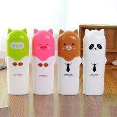 卡通旅行洗漱便携牙刷牙膏收纳盒--棕色小熊