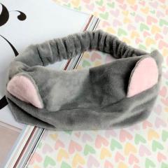 可爱猫耳朵洗脸美容束发带--灰色